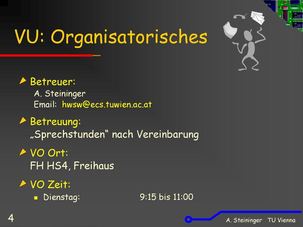 VU: Organisatorisches