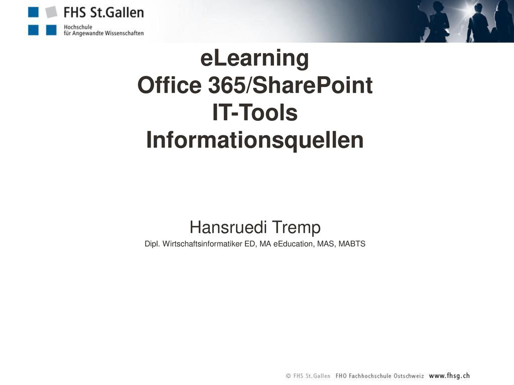 eLearning Office 365/SharePoint IT-Tools Informationsquellen