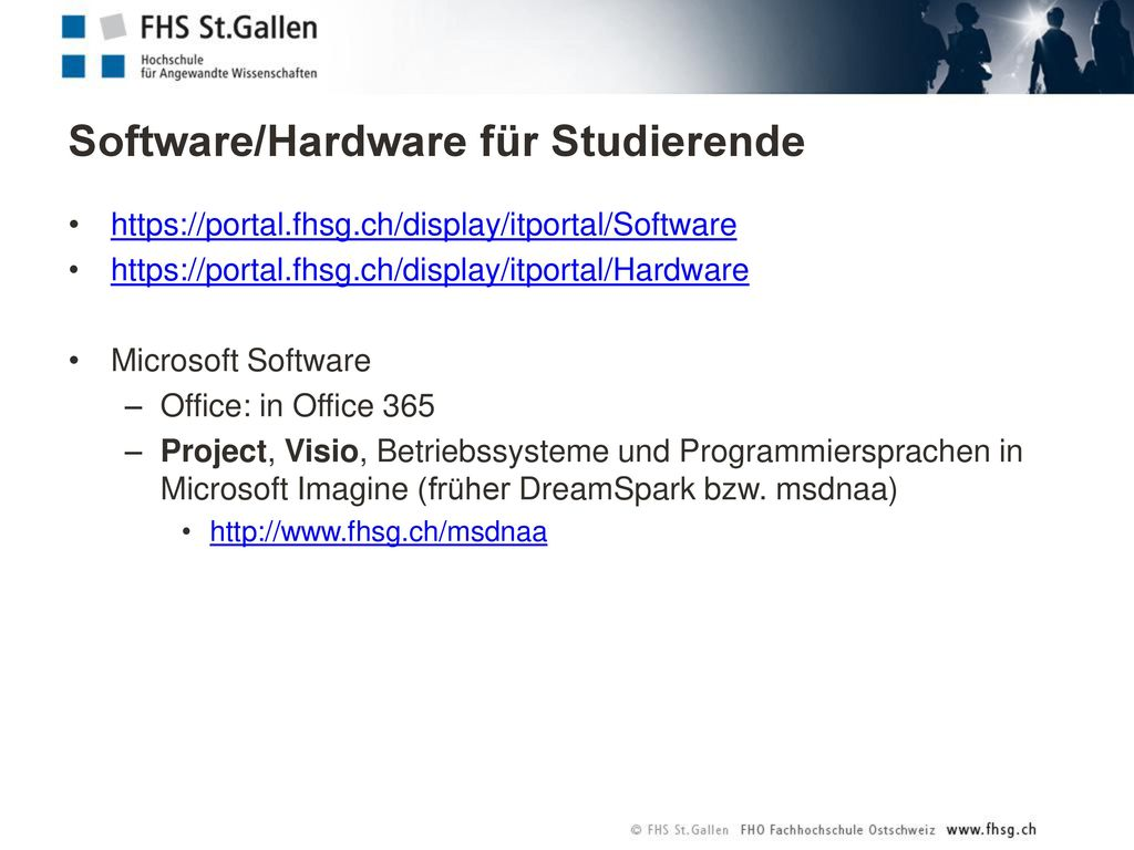 Software/Hardware für Studierende
