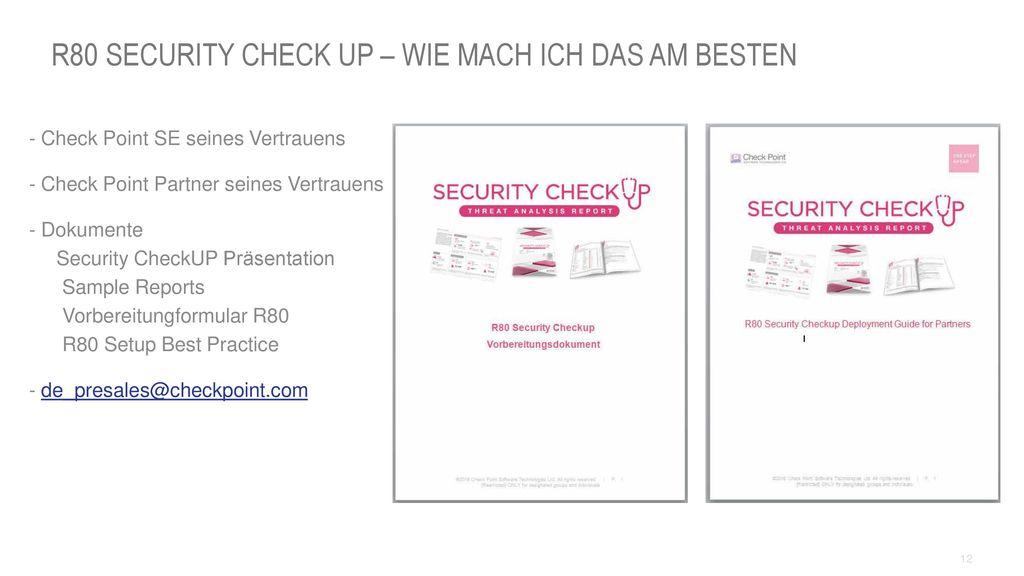R80 Security Check UP – Wie mach ich das am besten
