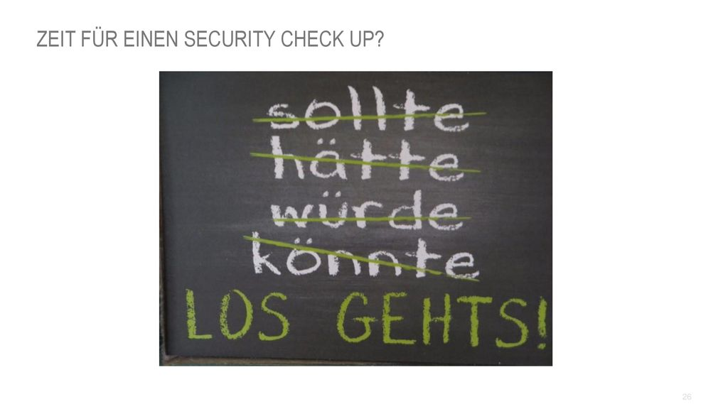 Zeit für einen Security Check Up