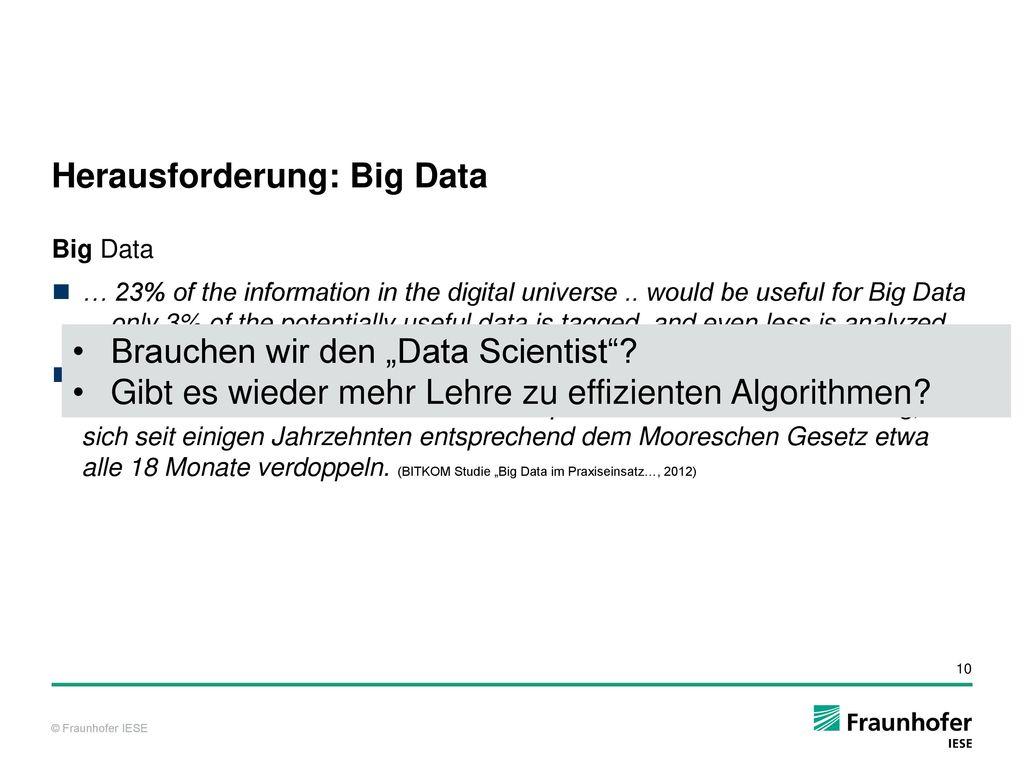 Herausforderung: Big Data