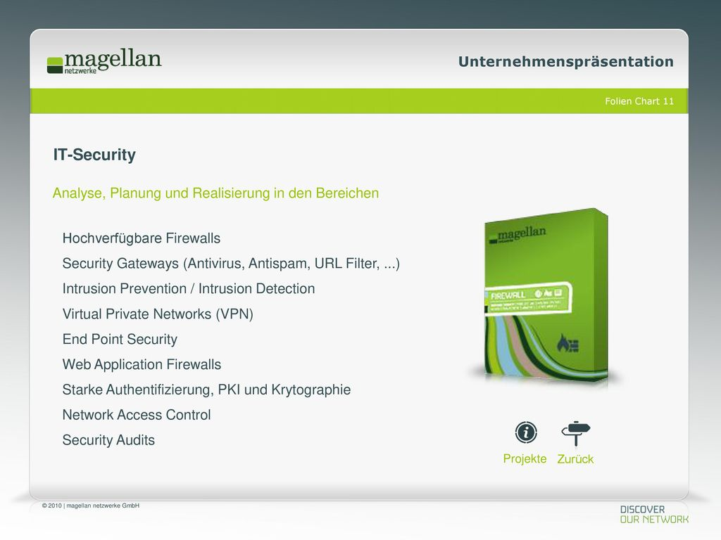 IT-Security Analyse, Planung und Realisierung in den Bereichen