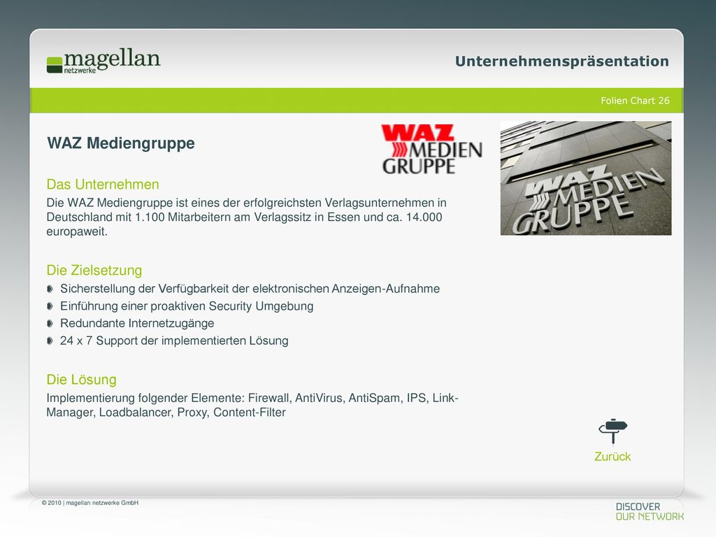 WAZ Mediengruppe Das Unternehmen Die Zielsetzung Die Lösung