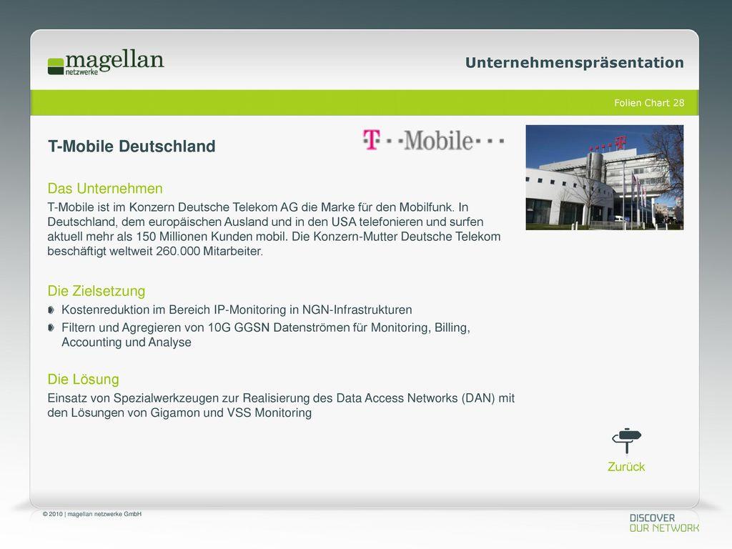T-Mobile Deutschland Das Unternehmen Die Zielsetzung Die Lösung
