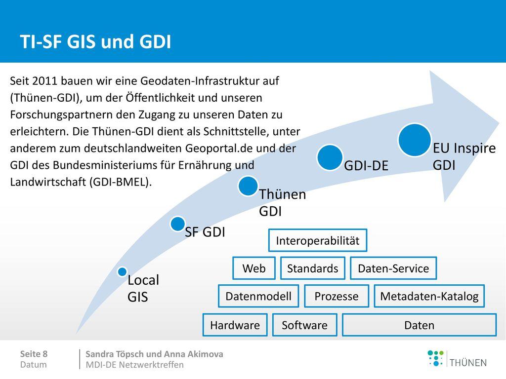 TI-SF GIS und GDI Metadaten Downloadservice Viewservice