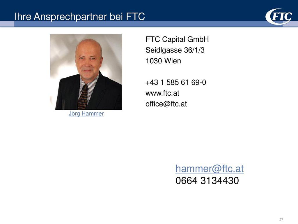 Ihre Ansprechpartner bei FTC