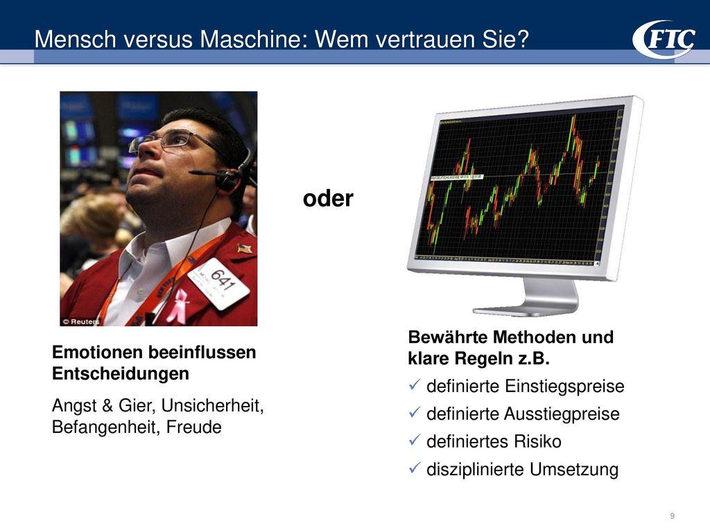 Mensch versus Maschine: Wem vertrauen Sie