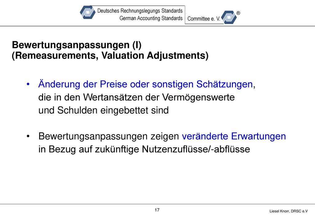 Bewertungsanpassungen (I) (Remeasurements, Valuation Adjustments)