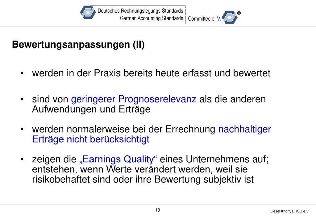 Bewertungsanpassungen (II)