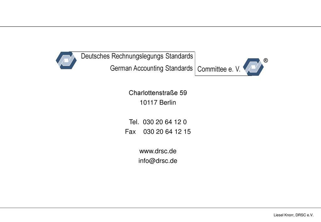 Deutsches Rechnungslegungs Standards German Accounting Standards
