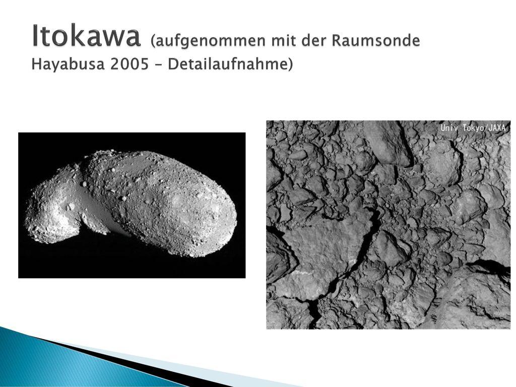 Itokawa (aufgenommen mit der Raumsonde Hayabusa 2005 – Detailaufnahme)