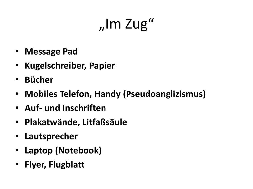 """""""Im Zug Message Pad Kugelschreiber, Papier Bücher"""