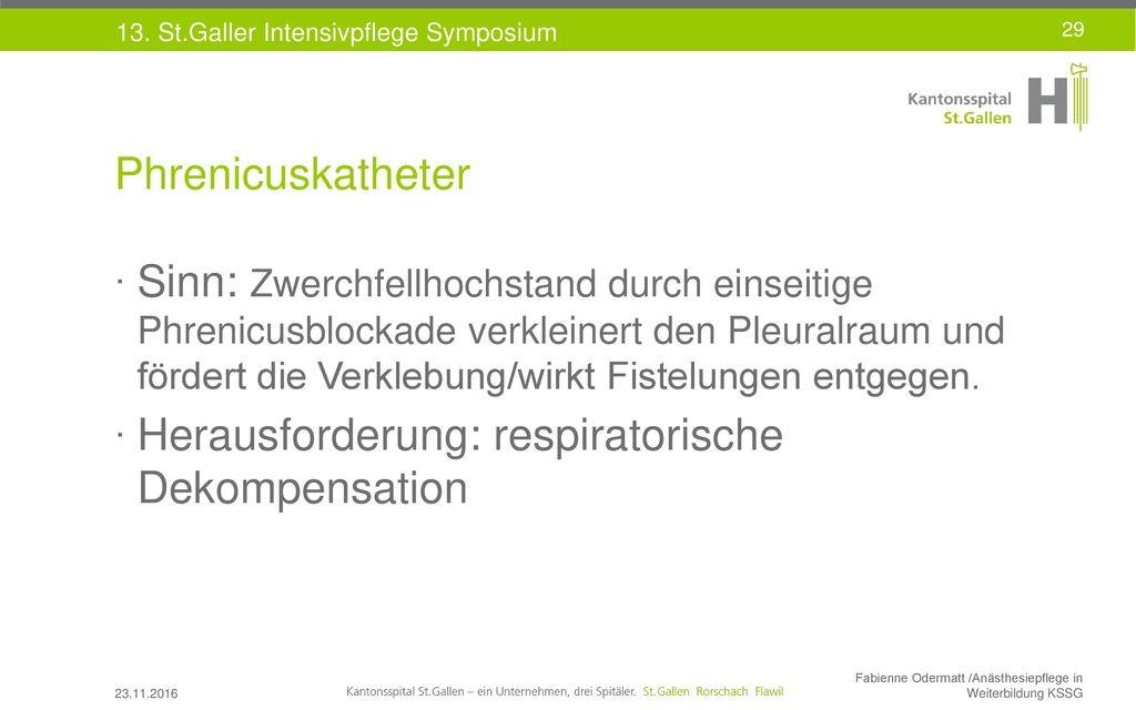Herausforderung: respiratorische Dekompensation