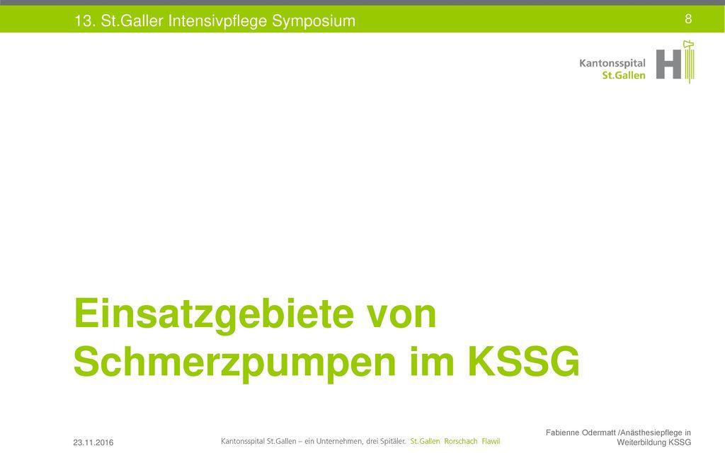 Einsatzgebiete von Schmerzpumpen im KSSG