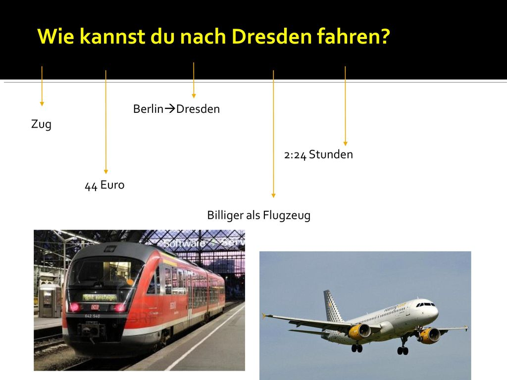 Wie kannst du nach Dresden fahren