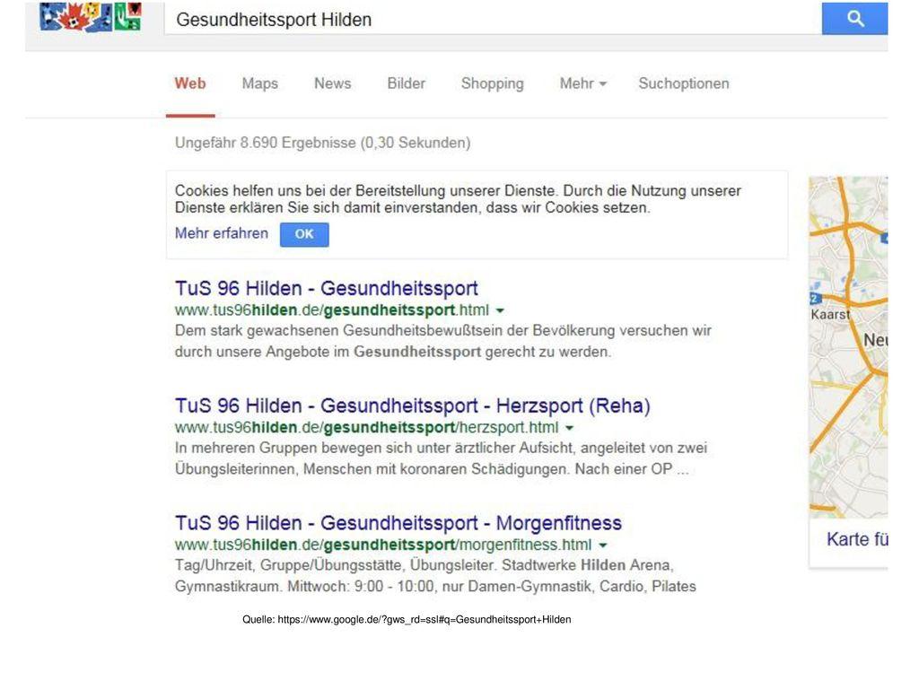 Quelle: https://www.google.de/ gws_rd=ssl#q=Gesundheitssport+Hilden