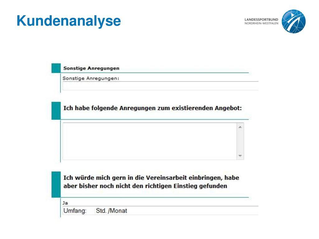 Kundenanalyse
