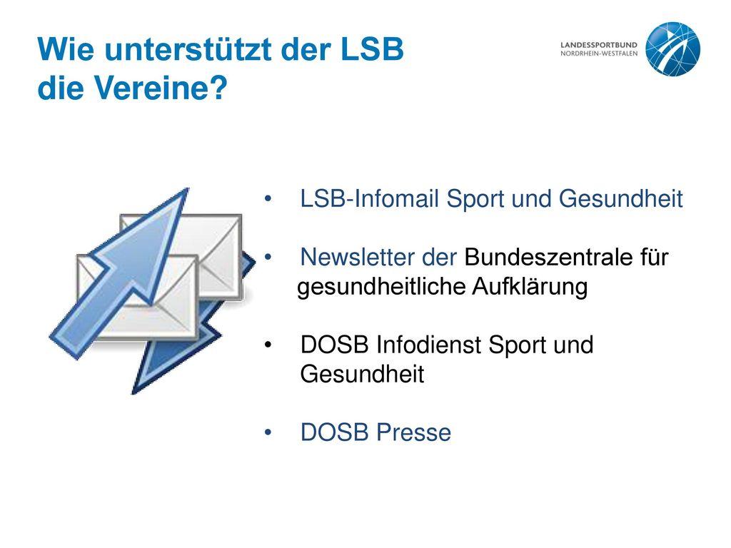 Wie unterstützt der LSB die Vereine