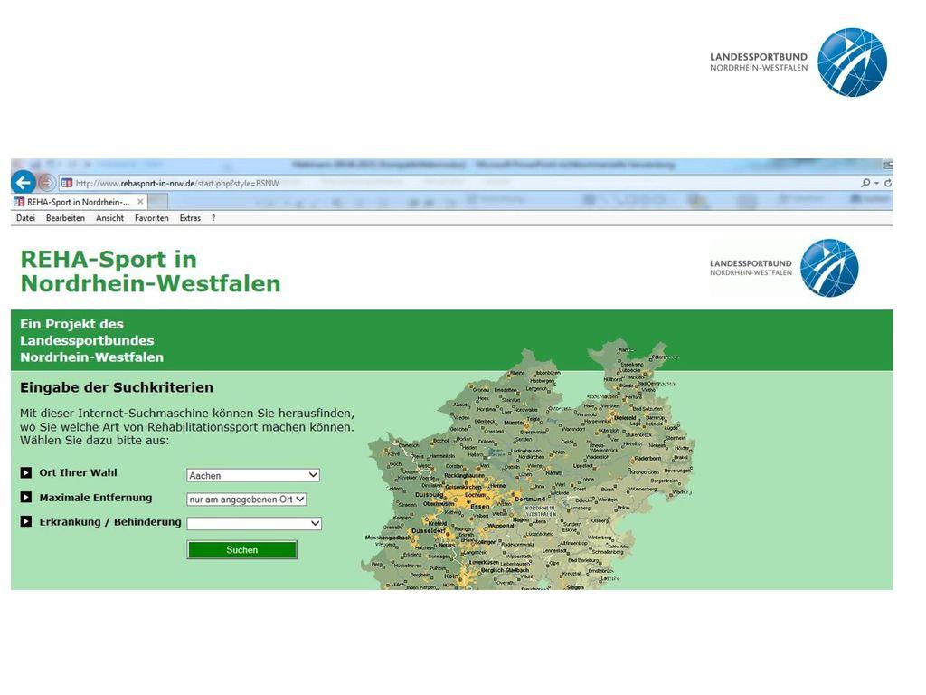 Hierbei handelt es sich um einen Screenshot der Seite www. lsb-nrw