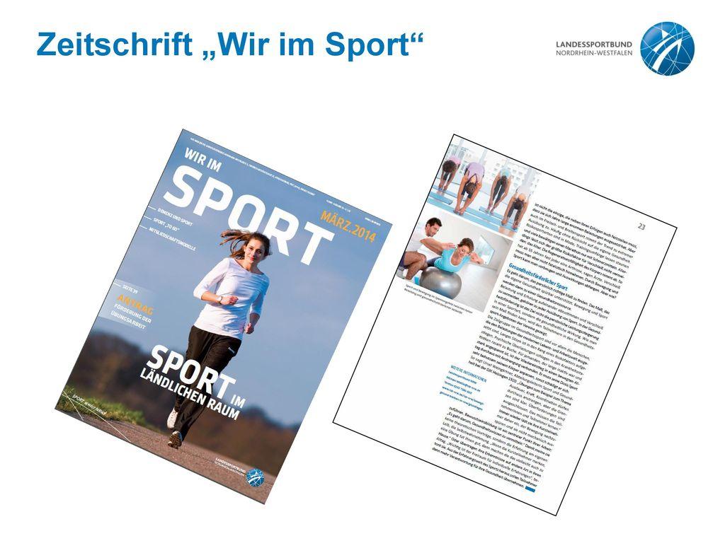 """Zeitschrift """"Wir im Sport"""