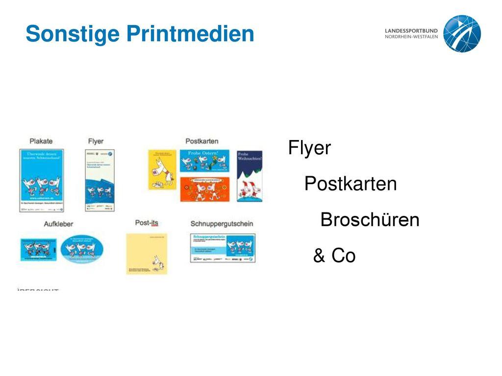 Sonstige Printmedien Flyer Postkarten Broschüren & Co