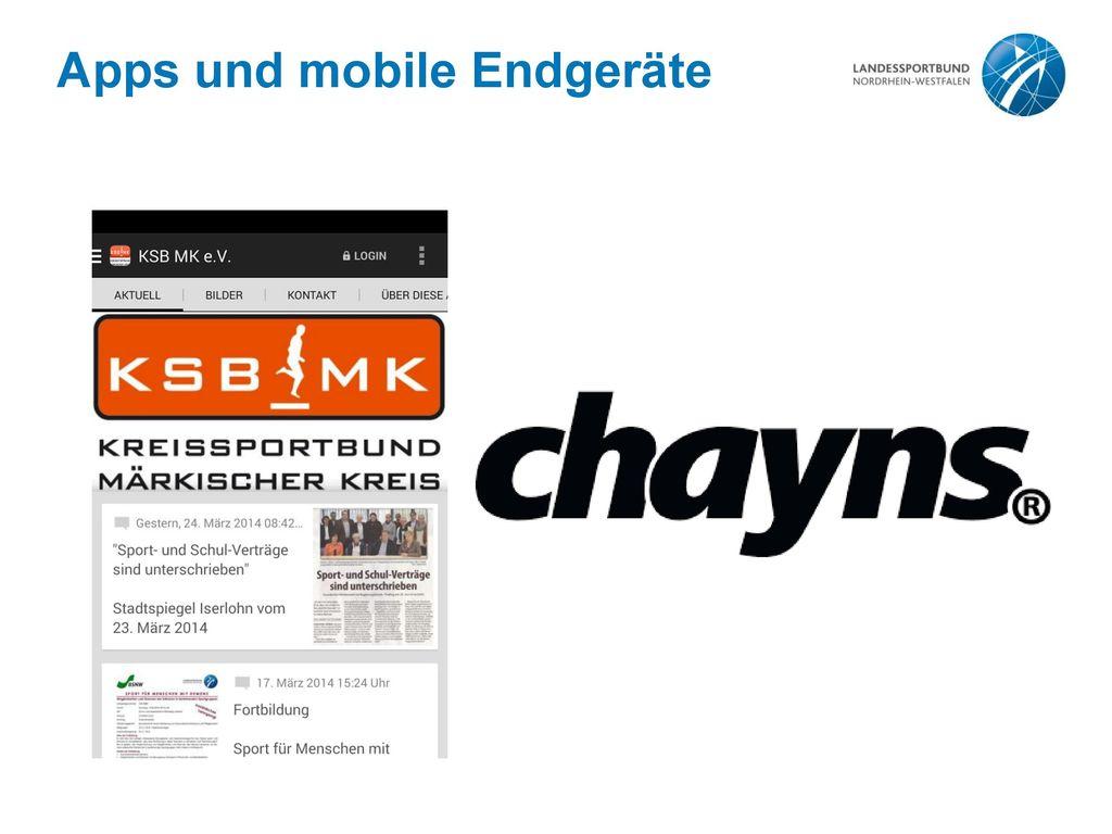 Apps und mobile Endgeräte