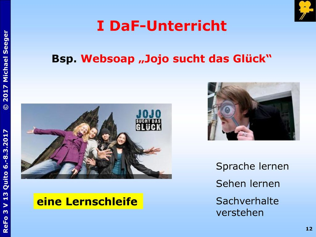 "Bsp. Websoap ""Jojo sucht das Glück"