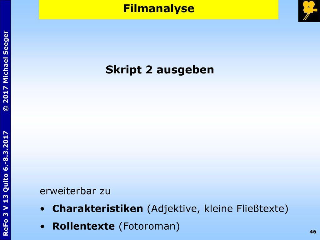 Filmanalyse Skript 2 ausgeben