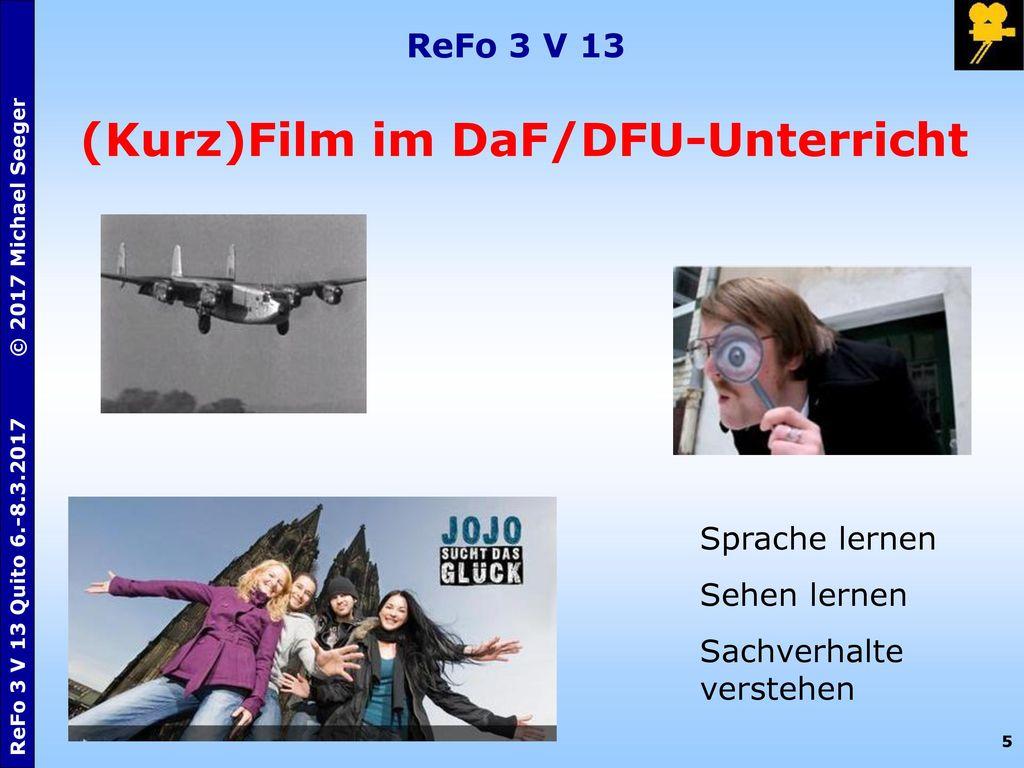(Kurz)Film im DaF/DFU-Unterricht