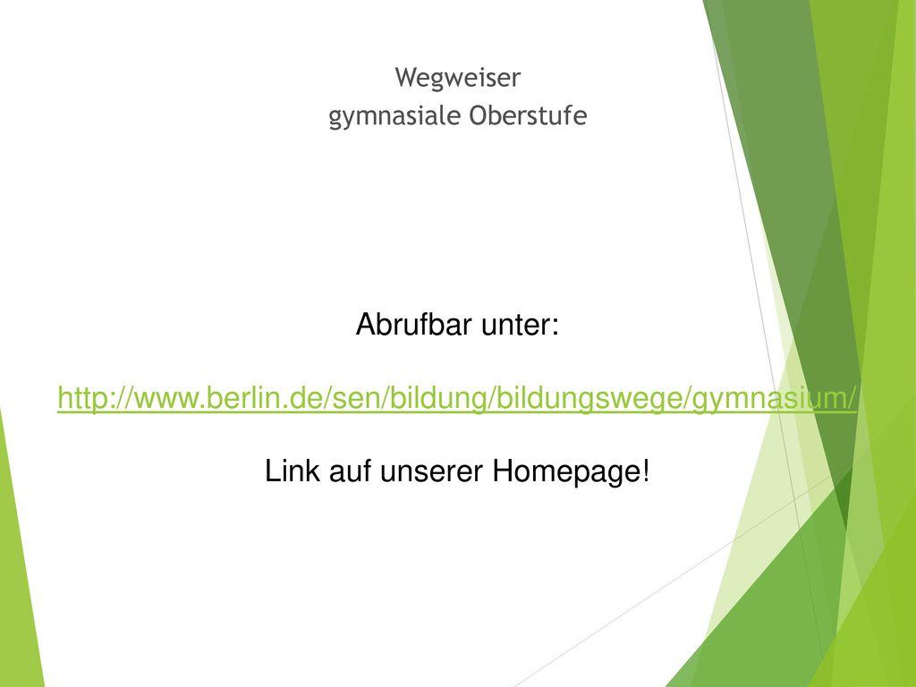 Link auf unserer Homepage!