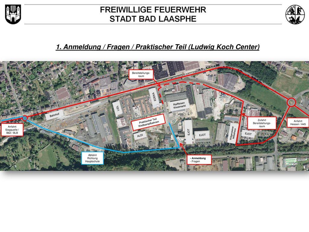 1. Anmeldung / Fragen / Praktischer Teil (Ludwig Koch Center)