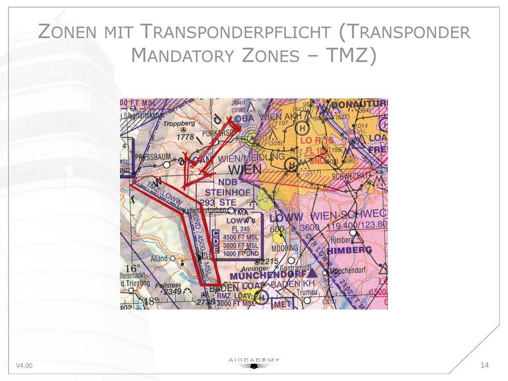 Zonen mit Transponderpflicht (Transponder Mandatory Zones – TMZ)