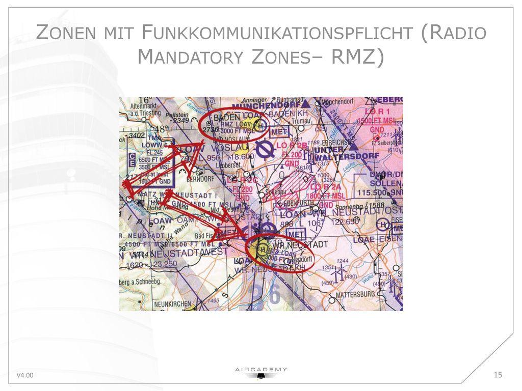 Zonen mit Funkkommunikationspflicht (Radio Mandatory Zones– RMZ)
