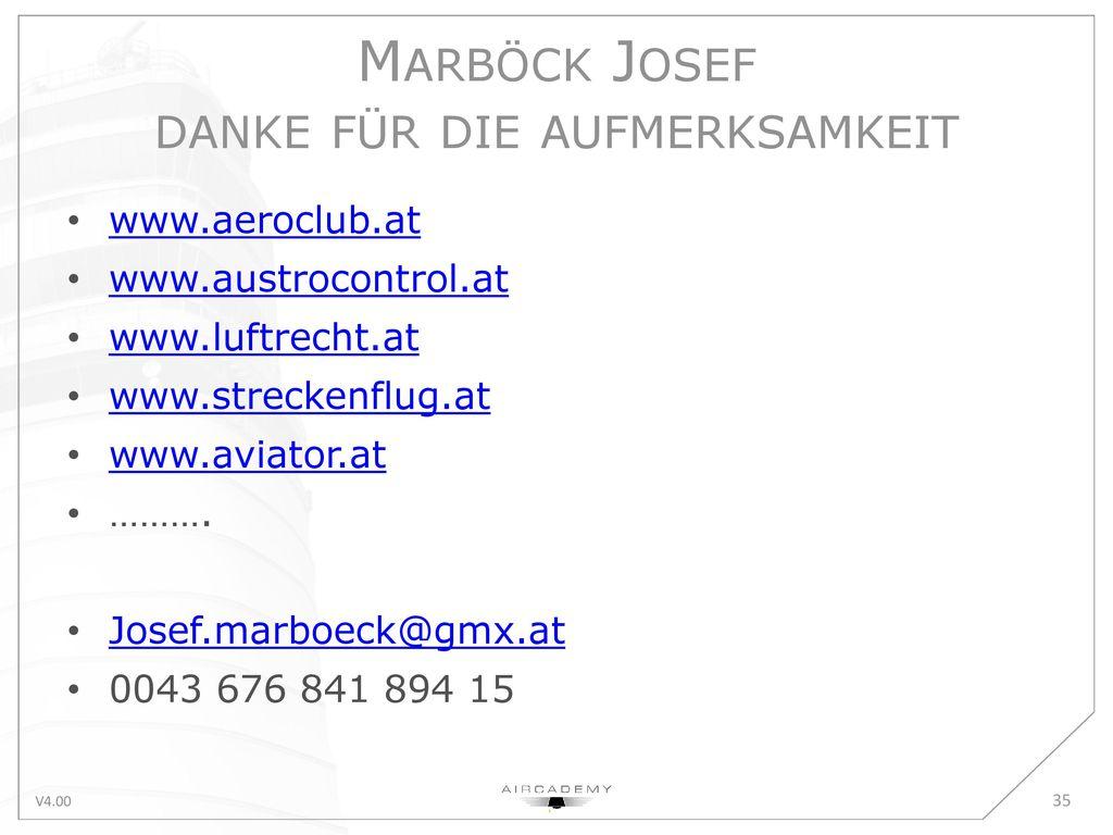 Marböck Josef danke für die aufmerksamkeit