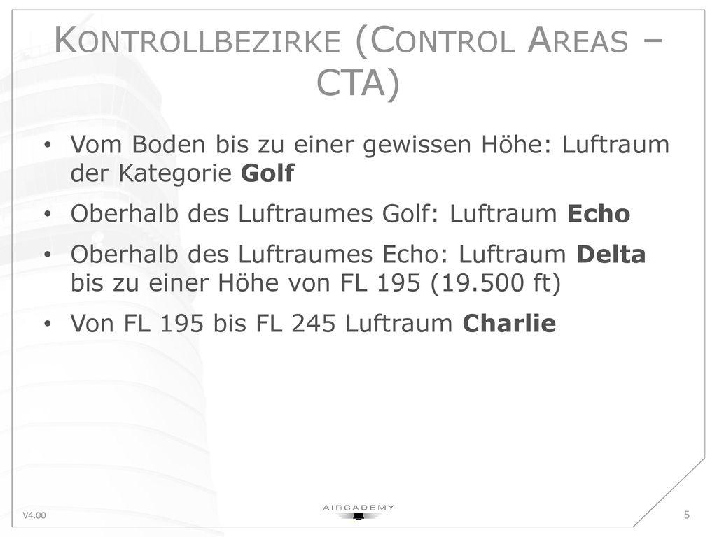 Kontrollbezirke (Control Areas – CTA)