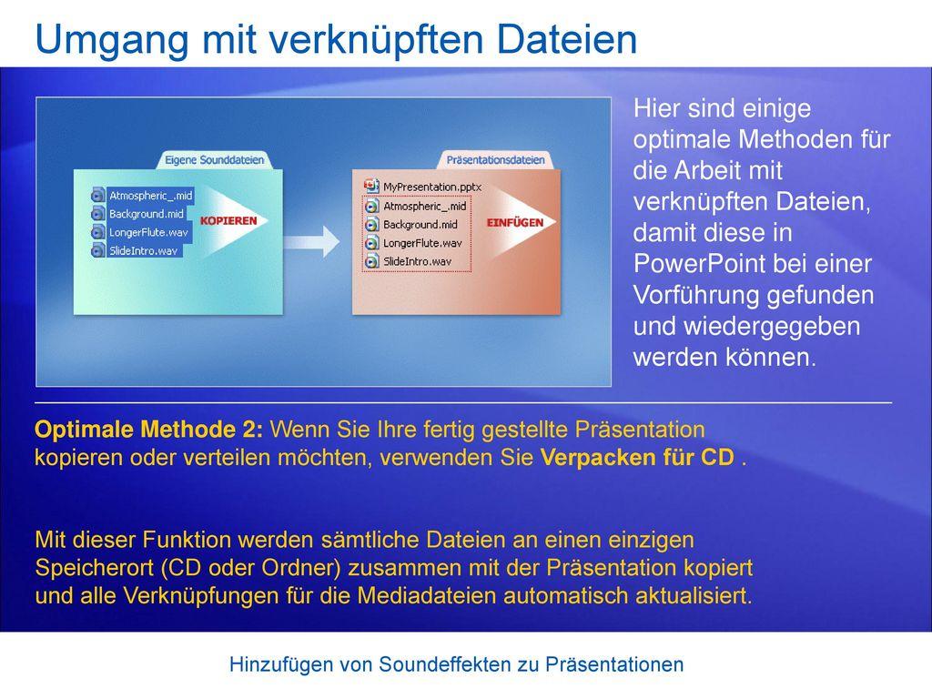 Umgang mit verknüpften Dateien