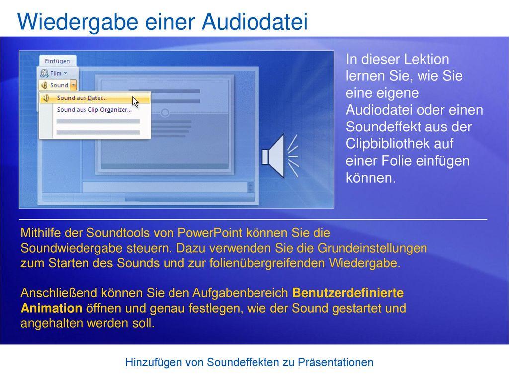 Wiedergabe einer Audiodatei