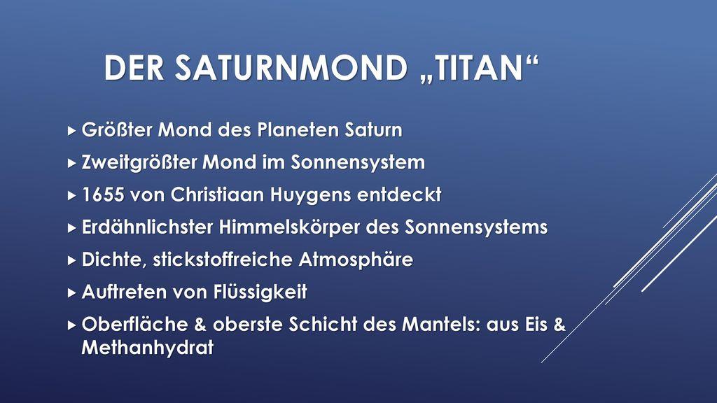 """Der saturnmond """"Titan"""