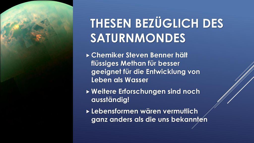 Thesen bezüglich des Saturnmondes
