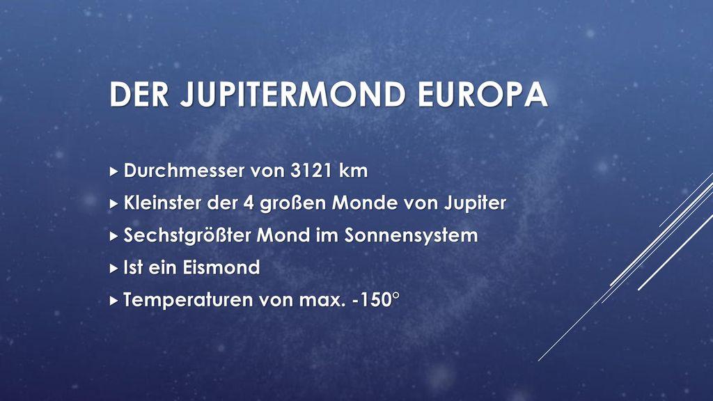 Der jupitermond Europa