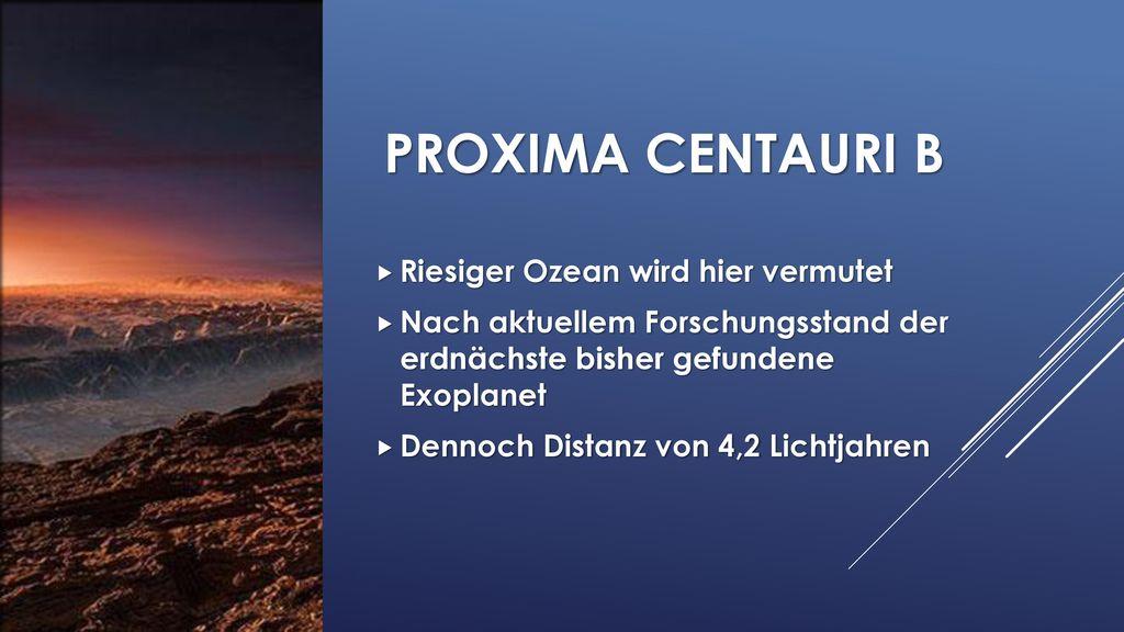 Proxima Centauri b Riesiger Ozean wird hier vermutet