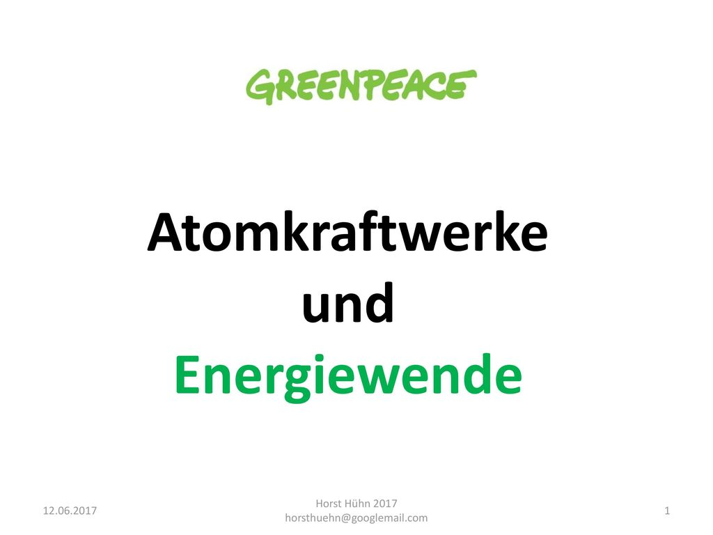 Atomkraftwerke und Energiewende