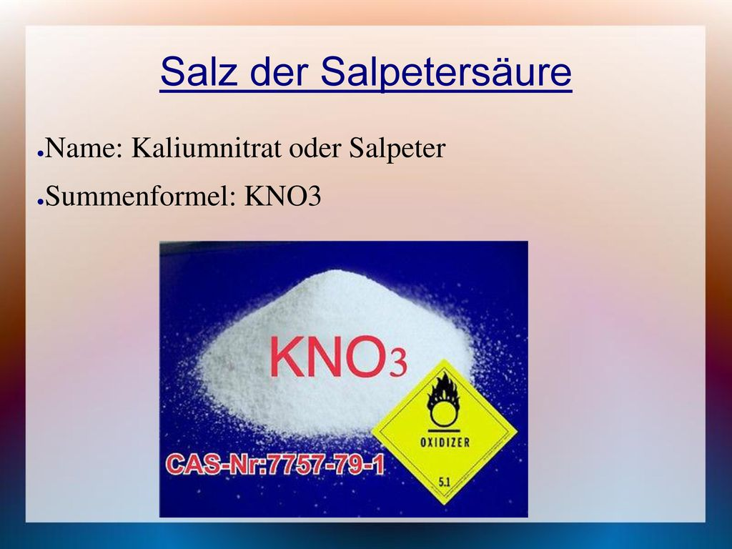 Salz der Salpetersäure