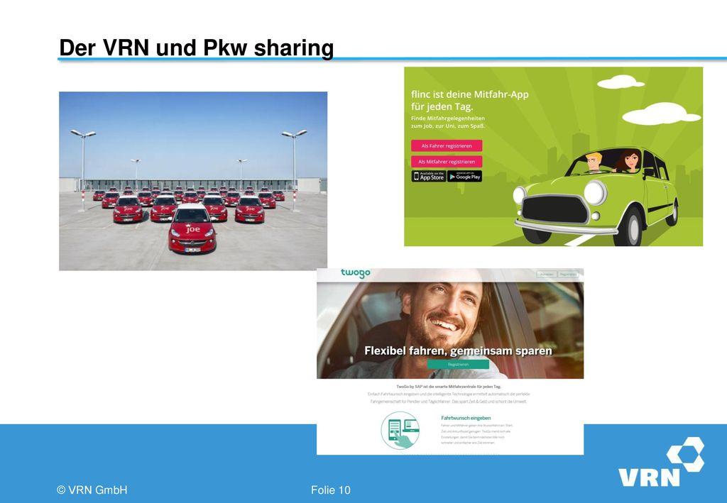 Der VRN und Pkw sharing © VRN GmbH Folie 10