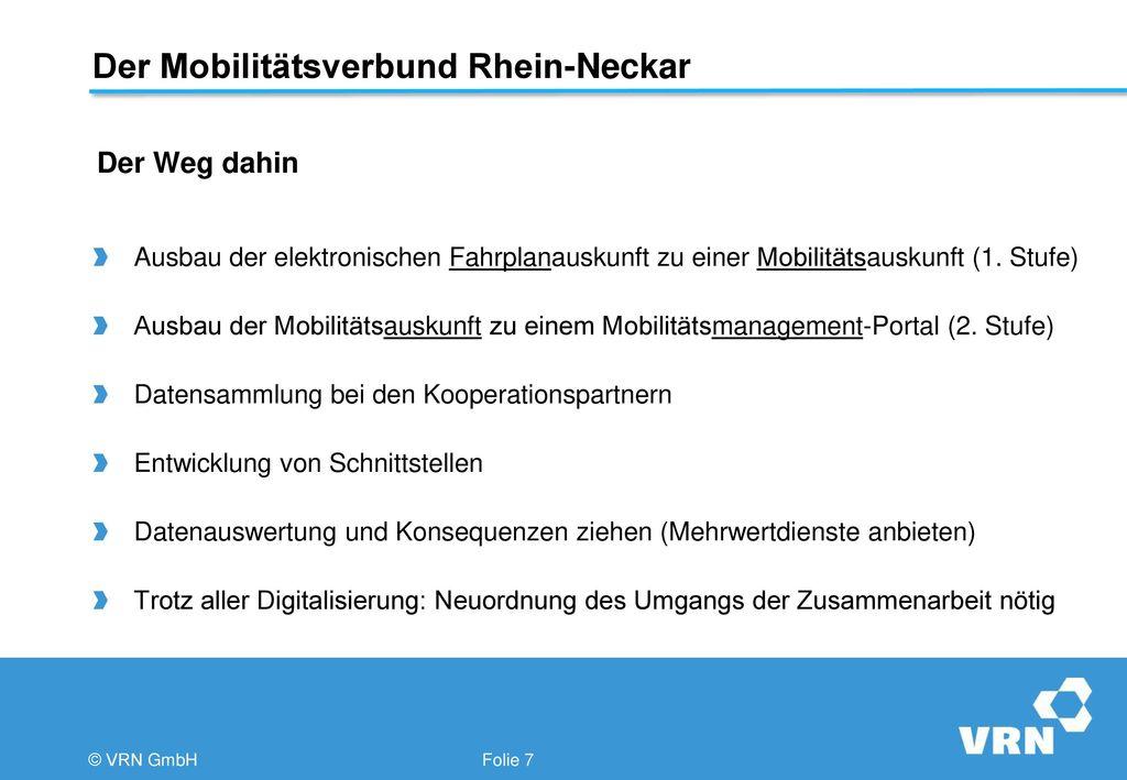 Der Mobilitätsverbund Rhein-Neckar