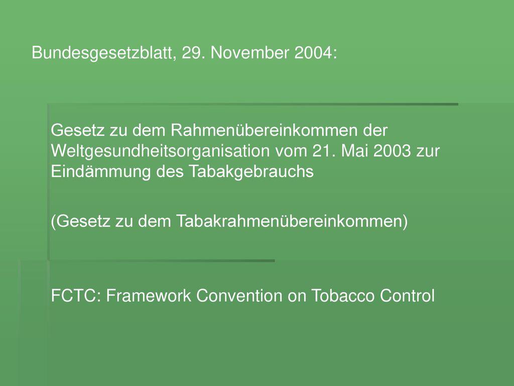 Bundesgesetzblatt, 29. November 2004: