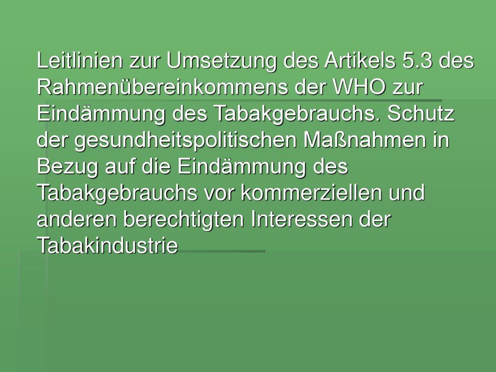 Leitlinien zur Umsetzung des Artikels 5