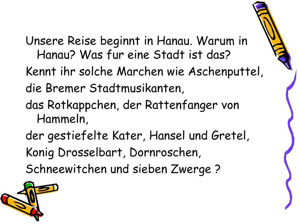 Unsere Reise beginnt in Hanau. Warum in Hanau