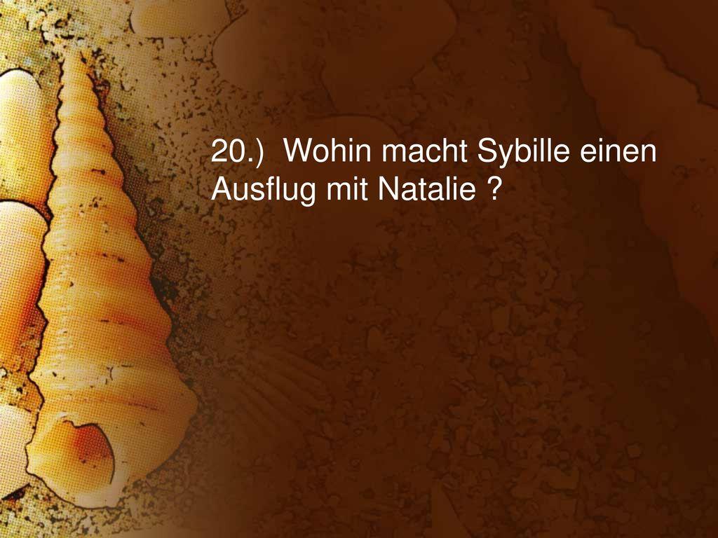 20.) Wohin macht Sybille einen Ausflug mit Natalie